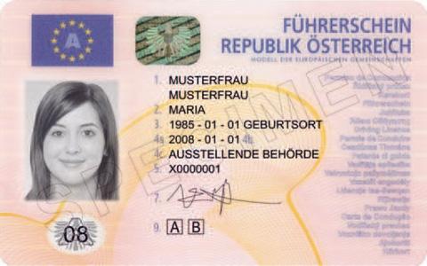 österreichischen Führerschein